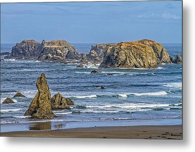 Metal Print featuring the tapestry - textile Bandon Beach Landscape by Dennis Bucklin