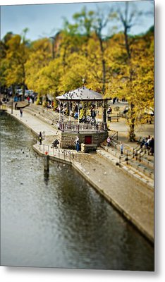 Metal Print featuring the photograph Bandstand In Chester by Meirion Matthias