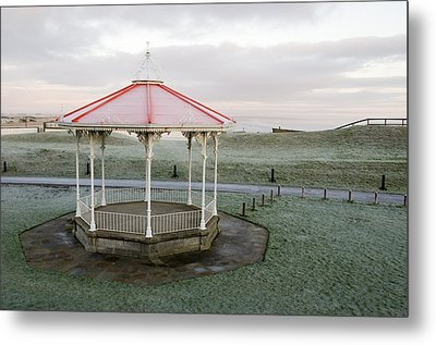 Metal Print featuring the photograph Bandstand In Winter by Jeremy Voisey