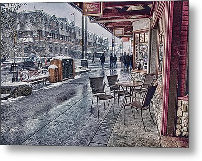 Banff Avenue Metal Print