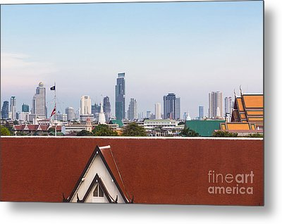 Bangkok Modern Vs Traditional Metal Print