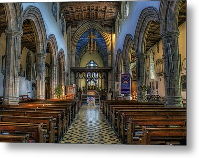 Bangor Cathedral V2 Metal Print by Ian Mitchell