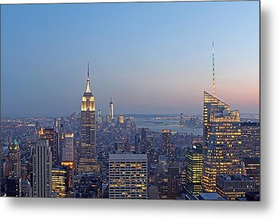 Bank Of America And Empire State Building Metal Print