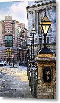 Bank Station In London Metal Print