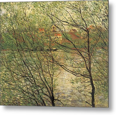 Banks Of The Seine Island Of La Grande Jatte Metal Print by Claude Monet