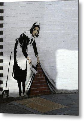 Banksy Maid Metal Print by A Rey