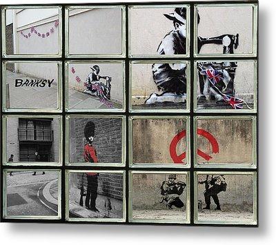 Banksy Street Art Metal Print