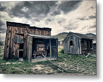 Bannack Carriage House Metal Print by Renee Sullivan