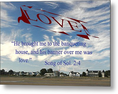 Metal Print featuring the photograph Banner Of Love by Paul Miller