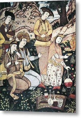 Banquet Of Abbas I. 17th C. Iran Metal Print by Everett