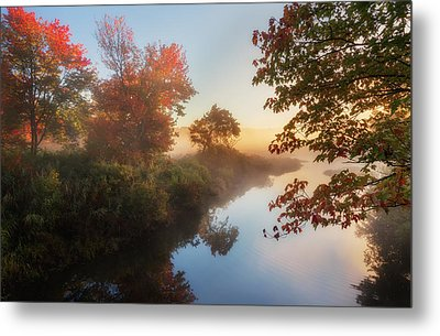Bantam River Sunrise Metal Print