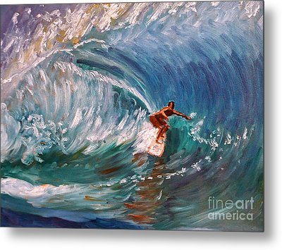 Banzai Pipeline In Oahu Metal Print