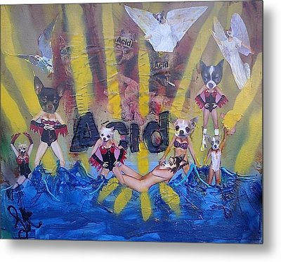 Metal Print featuring the painting Baptism In Acid by Lisa Piper