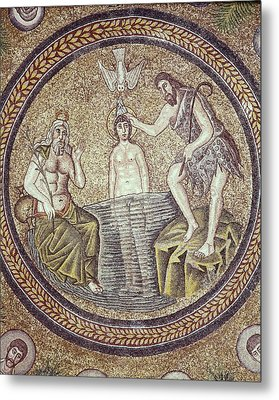 Baptism Of Christ. End 5th C. Italy Metal Print by Everett