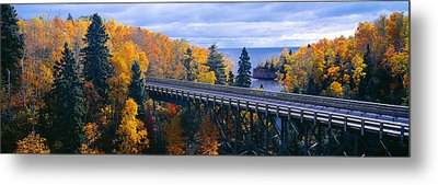 Baptism River Into Lake Superior Metal Print by Panoramic Images