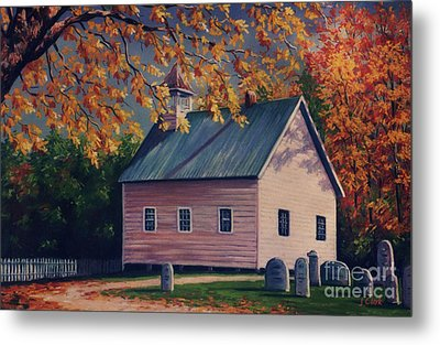 Baptist Church  Cades Cove Metal Print
