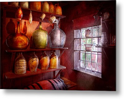Bar - Bottles - Check Out These Big Jugs  Metal Print by Mike Savad