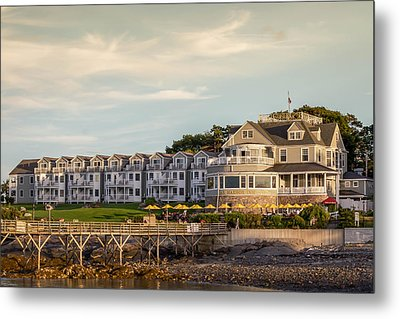 Metal Print featuring the photograph Bar Harbor Inn  by Trace Kittrell