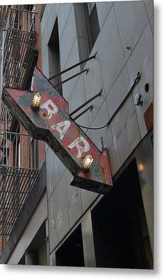 Bar Sign Metal Print by Matt Radcliffe