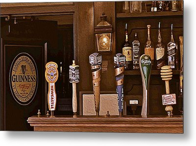 Bar Taps Metal Print