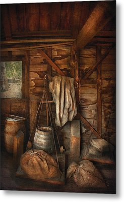 Bar - Weighing The Hops Metal Print by Mike Savad