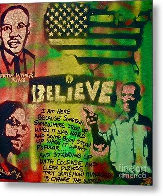 Barack And Martin And Malcolm Metal Print