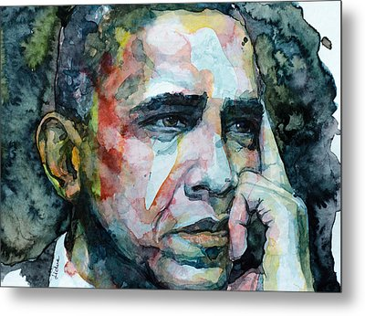 Metal Print featuring the painting Barack by Laur Iduc