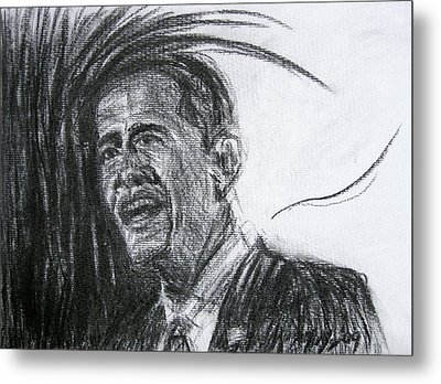 Barack Obama 1 Metal Print by Michael Morgan