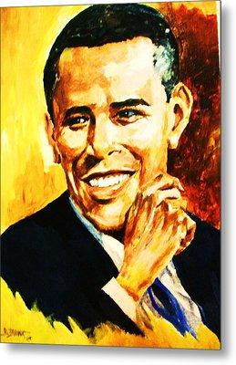 Barack Obama Metal Print