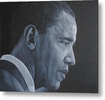 Barack Obama Metal Print by David Dunne