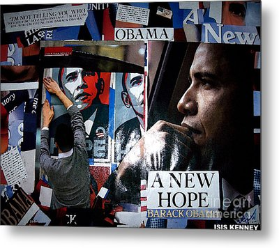 Barack Obama Metal Print by Isis Kenney