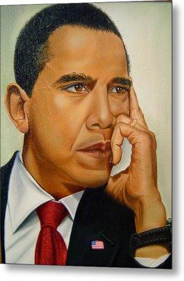 Barak H. Obama Metal Print by Yechiel Abramov