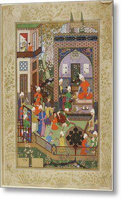 Barbad Playing The Lute Metal Print