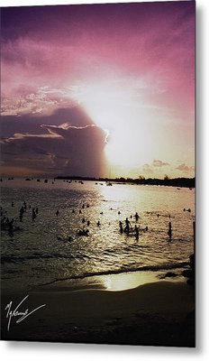 Barbados Sunset Metal Print by Max CALLENDER