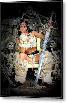 Barbarian Queen Metal Print