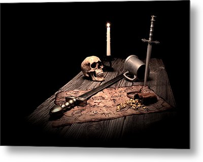 Barbarian Quest Metal Print by Tom Mc Nemar