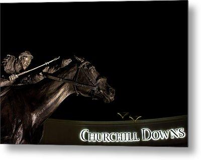 Barbaro And Churchill Downs At Night  Metal Print