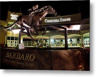 Barbaro Statue Outside Of Churchill Downs  Metal Print