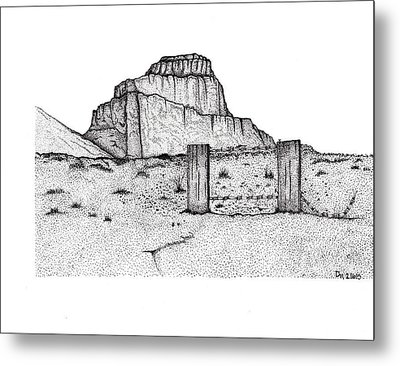 Barbed Butte Metal Print by DeeAnna Nevins