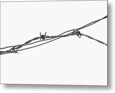 Barbed Wire Metal Print by Fran Riley