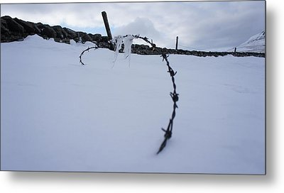 Barbed Wire Metal Print by Riley Handforth
