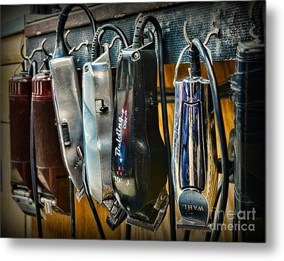 Barber -  Hair Clippers Metal Print