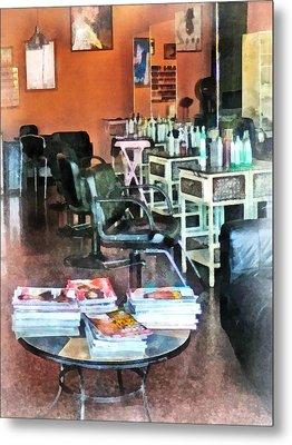 Barber - Hair Salon Metal Print by Susan Savad