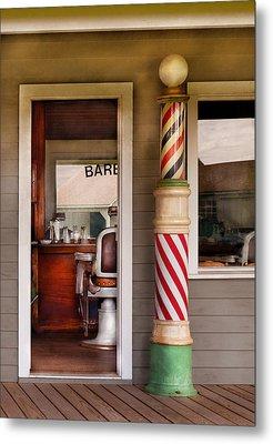 Barber - I Need A Hair Cut Metal Print by Mike Savad