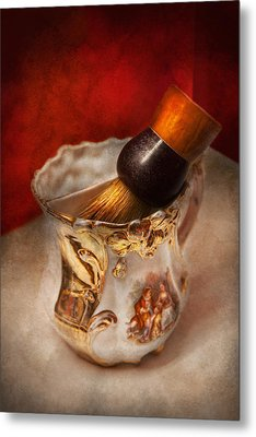 Barber - Shaving - The Beauty Of Barbering Metal Print by Mike Savad