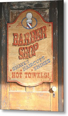 Barber Shop Metal Print
