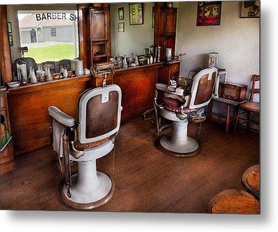 Barber - The Hair Stylist Metal Print by Mike Savad