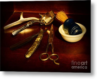 Barber - Things In A Barber Shop Metal Print by Paul Ward
