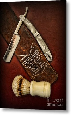 Barber - Tools For A Close Shave  Metal Print