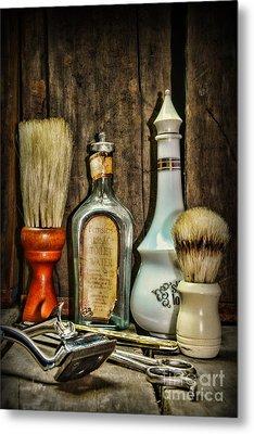 Barber - Vintage Barber Bottles Metal Print by Paul Ward